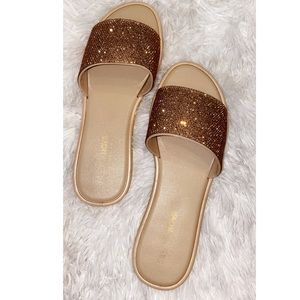 Sparkly Flat Sandals